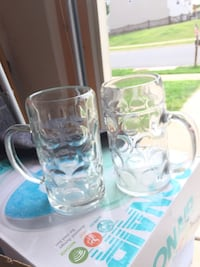 two clear glass beer mugs Stafford, 22554