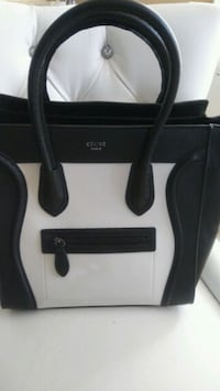 black and white leather tote bag Mississauga, L5W 1P1