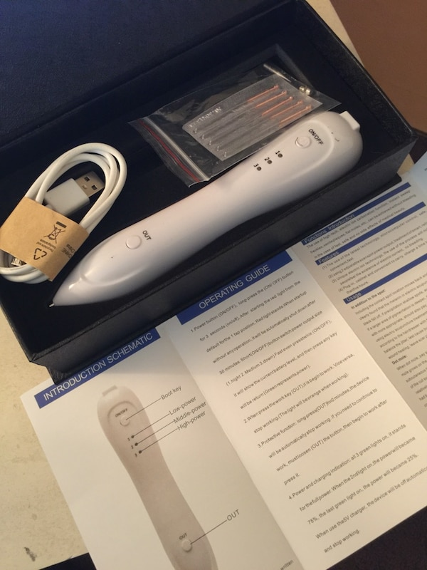 Laser pen for age spot, skin tag, mole, tattoo removal