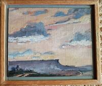 """Origninal oil painting titled """"The valley of the Gods."""" Newport Beach"""