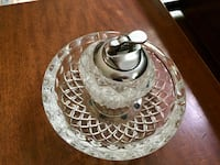Heavy Lead Crystal Ashtray & Lighter Springfield, 22150