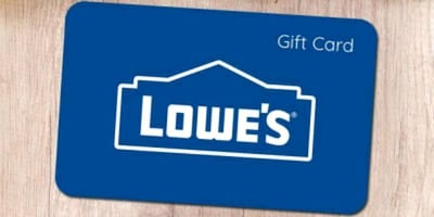 250$ lowes gift card