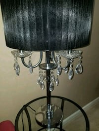 black and gray table lamp Frederick, 21702