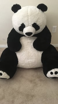 Black and white panda plush toy