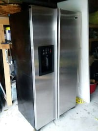 stainless steel side by side refrigerator