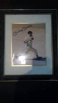 Mickey Mantle sigh autograph