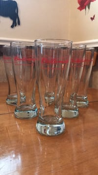 four clear glass beer mugs Lombard, 60148