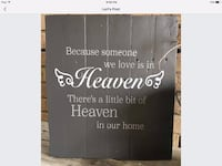 gray and white because someone we love is in heaven wall art Aylmer, N5H 2K5