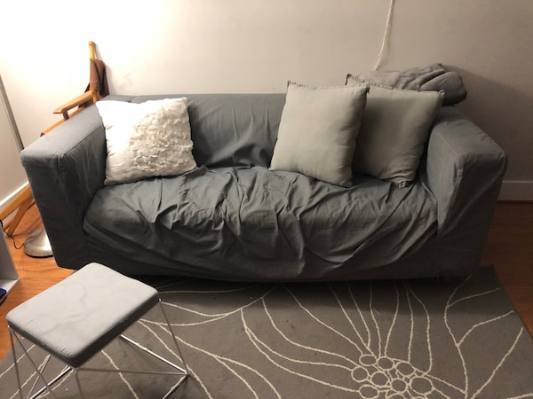 Comfy grey IKEA couch