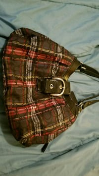 Coach (real) red and black plaid purse Macon, 31217