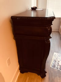 brown wooden 2-drawer nightstand Linthicum Heights, 21090