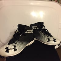 Pair of black-and-white Under Armour high cleats Crystal River, 34428