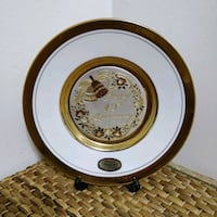 "Art of Chokin 6"" gold rim collector plate Toronto, M2J"