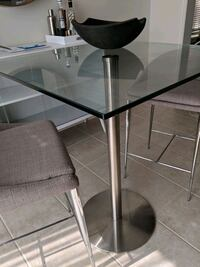 Counter height glass dining table Hamilton