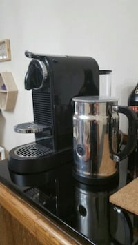 Nespresso machine + milk frother Vancouver, V6E 3W3