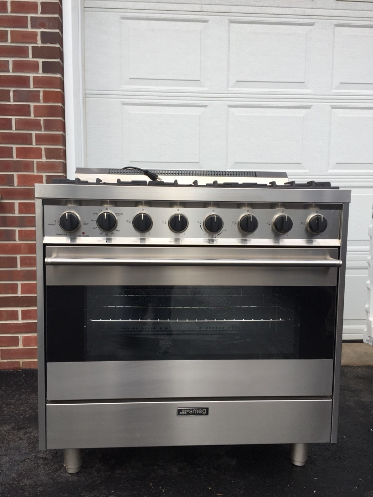 used smeg stainless steel and black gas range oven for sale in rh gb letgo com
