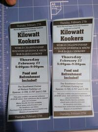 Houston rodeo cookoff tickets