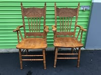 Solid Wood Matching Captain Chairs Vancouver, 98661