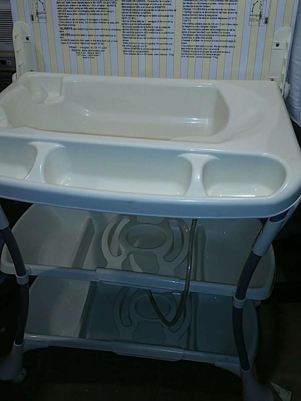 Used Primo Euro Spa Baby Bath Tub and Changing Table for sale in ...