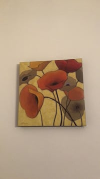 brown and red flower painting Hagerstown, 21740
