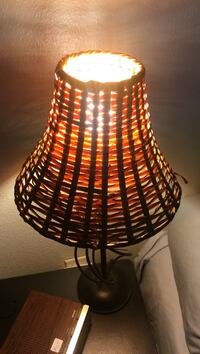 wicker brown lampshade desk lamp Metairie, 70003