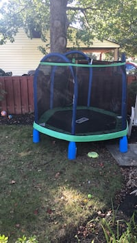 My first trampoline 3 months 9old 34 mi