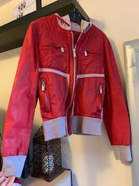 Red Leather Jacket Bikkemberg Toronto, M9A 1B3