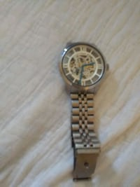 round silver-colored chronograph watch with link bracelet Radcliff, 40160