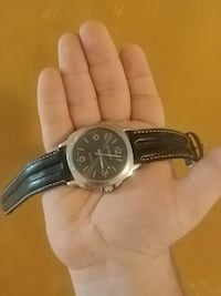 Hudson stainless steel watch with leather straps Peterborough, K9H 4X6