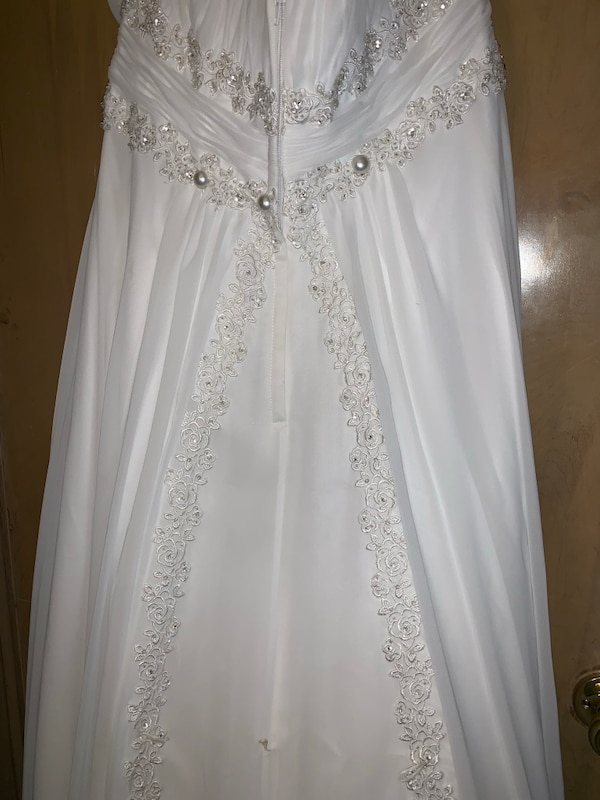 Wedding gown from David's Bridal strapless size 14
