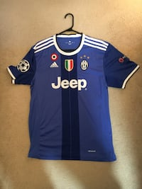Juventus blue soccer jersey (#21 DYBALA) With UCL patches Winnipeg, R3T