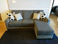 Fabric 3 seat sofa with chaise Toronto, M9N 0A2