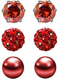3 PAIR OF RED SUD EARRINGS FOR VALENTINE'S DAY CLARKSVILLE