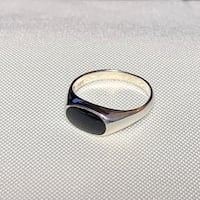 Vintage Black Onyx Sterling Silver Ring