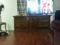 brown  antique wooden dresser  Chatham-Kent, N7L 2T8