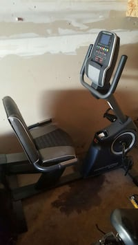 black recumbent stationary bike