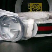 white Gucci leather belt with box Sacramento, 95842