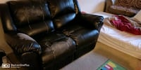 black leather reclainer sofa.. Falls Church, 22043