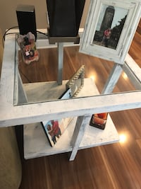 2 end tables and coffee table glass top Charlotte, 28216
