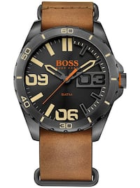 NEW Boss Men's 1513316 Berlin Japanese Quartz Brown Watch  Toronto