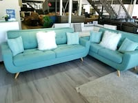 ???? FREE DELIVERY BRAND NEW TEAL Fabric Sofa couch! Oviedo, 32765