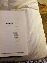 1st draft of original first XMEN script Vaughan, L6A 2K3