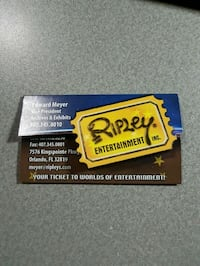 Life time Niagara Ripleys Pass for a family of 4 Mississauga, L5G 1J2