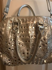 gray and black leather shoulder bag Miami, 33186
