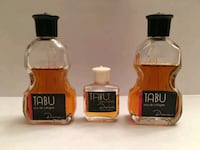 Three Vintage TABU by DANA Miniature Perfume Bottles