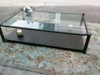 rectangular clear glass top coffee table Houston, 77034