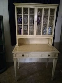 white wooden framed glass display cabinet Valley Center, 92082