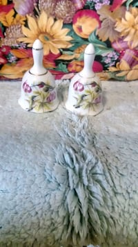 white and pink floral ceramic pitcher Hull, 30646