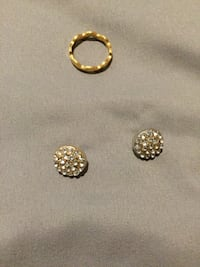 Costume jewelry Ring size 8 and studs are gold filled Abilene, 79606