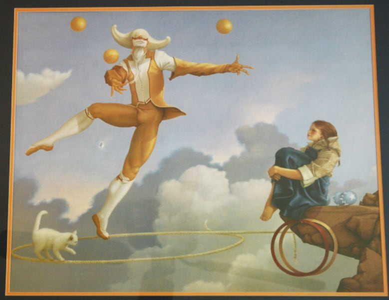 """The Juggler"" MICHAEL PARKES Framed Print  5"